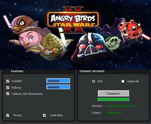 Чит Angry Birds Star Wars II на деньги