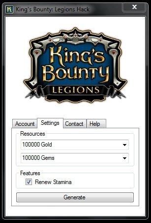Чит на King's Bounty: Legions