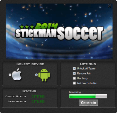 Чит на Stickman Soccer 2014