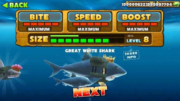 взлом Hungry Shark Evolution