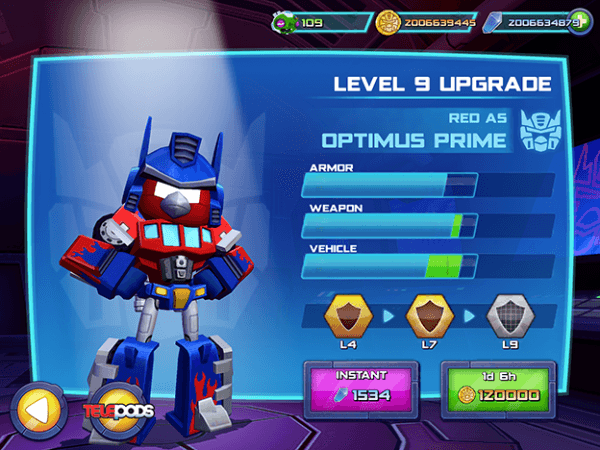 Скачать angry birds transformers 1. 36. 5 для android.