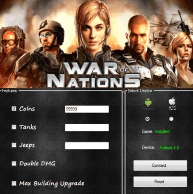 ВЗЛОМ War of Nations. ЧИТ на деньги и технику.