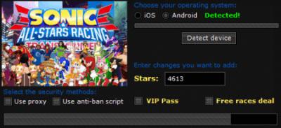 ВЗЛОМ Sonic Racing Transformed. ЧИТ на звезды.