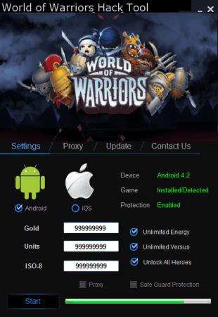 ВЗЛОМ WORLD OF WARRIORS. ЧИТ на золото и чемпионов.