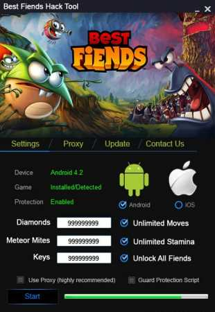 коды для взлома Best Fiends