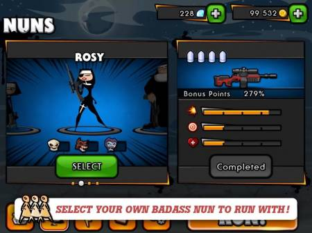 ВЗЛОМ Nun Attack: Run & Gun. ЧИТ на золото и кристаллы.