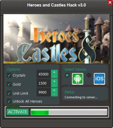 ВЗЛОМ Heroes and Castles. ЧИТ на кристаллы.