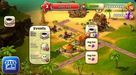 ВЗЛОМ Paradise Island 2. ЧИТ на золотые монеты и кристаллы.