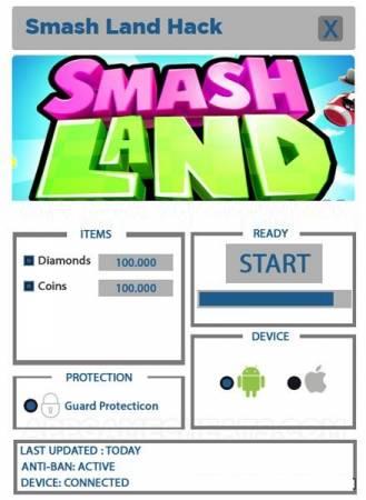 ВЗЛОМ Smash Land. ЧИN на монетки и кристаллы.