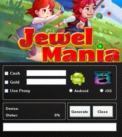 ВЗЛОМ Jewel Mania. ЧИТ на золото, монетки и деньги.