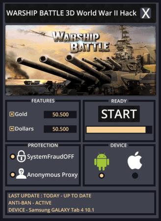 взлом WARSHIP BATTLE - Морская битва