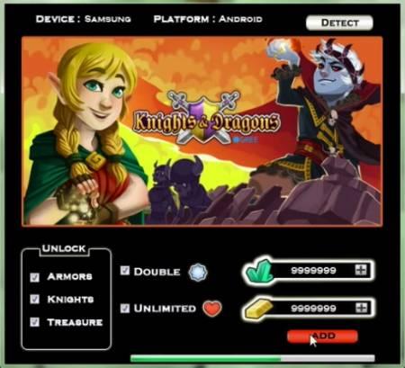 ВЗЛОМ Knights & Dragons. ЧИТ на опыт, золото, кристаллы.
