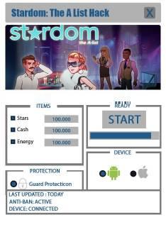 ВЗЛОМ Stardom: The A-List. ЧИТ на звезды, энергия.