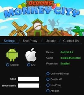ВЗЛОМ Bloons Monkey City. ЧИТ на деньги и камни.