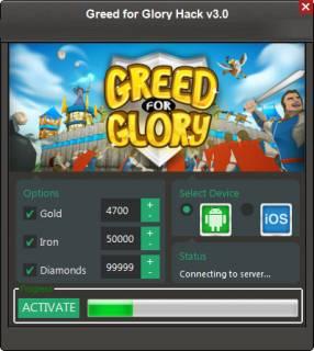 ВЗЛОМ Greed for Glory: War Strategy. ЧИТ на золото, кристаллы, ресурсы.