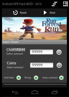 ВЗЛОМ Run Forrest Run. ЧИТ на шоколад и монетки.