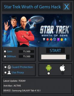 ВЗЛОМ Star Trek - Wrath of Gems. ЧИТ на деньги.
