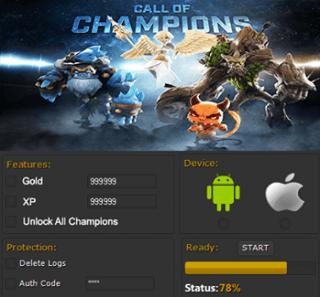 ВЗЛОМ Call of Champions. ЧИт на золото и опыт.