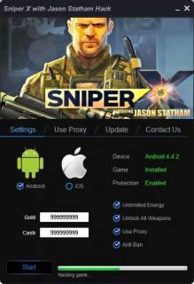 взлом SNIPER X WITH JASON STATHAM