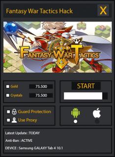 ВЗЛОМ Fantasy War Tactics. ЧИТ на деньги и кристаллы.