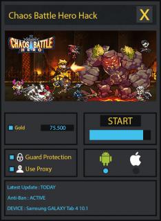 ВЗЛОМ Chaos Battle Hero. ЧИТ на золотые монеты.