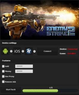 ВЗЛОМ Enemy Strike 2. ЧИТ на золото и деньги.