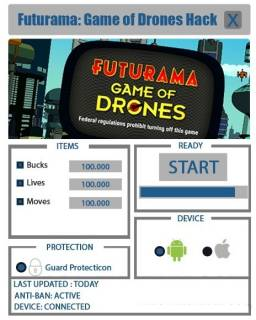 Чит на Futurama: Game of Drones
