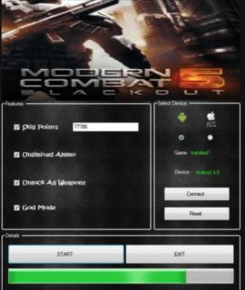 взлом ModernCombat5