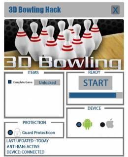 ЧИТ Боулинг 3D Bowling