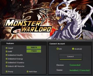 Чит на Monster Warlord