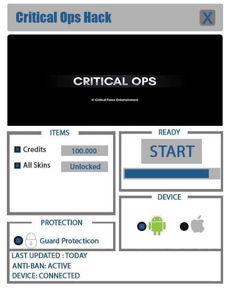 скачать читы для Critical Ops img-1