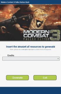 ЧИТ Modern Combat 3