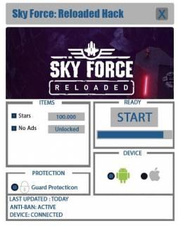 Чит Sky Force Reloaded