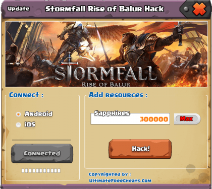 Чит Stormfall: Rise of Balur