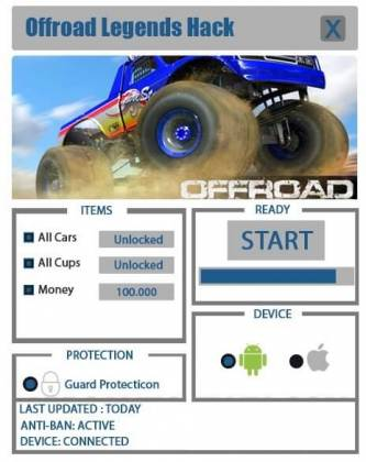 Чит Offroad Legends
