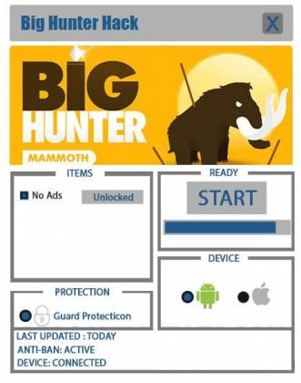 Чит для Big Hunter