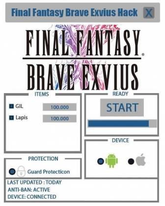 Чит для Final Fantasy Brave Exvius