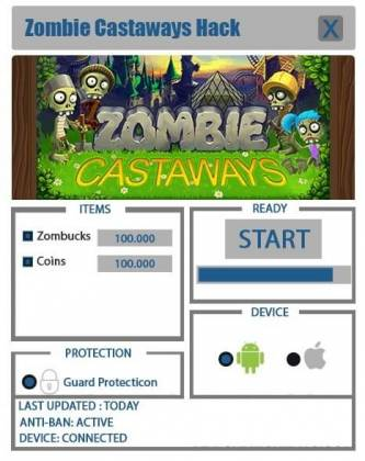 Чит для Zombie Castaways