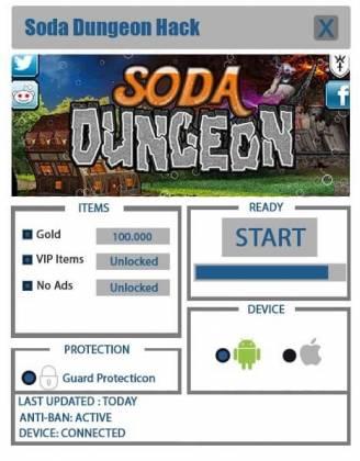 Чит для Soda Dungeon