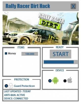Чит Rally Racer Dirt