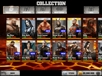 Чит для WWE Immortals