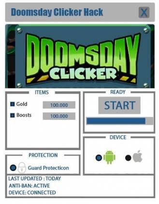 Чит для Doomsday Clicker