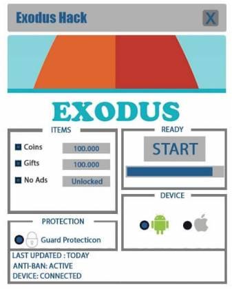 Чит для Exodus