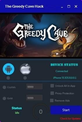 Чит для The Greedy Cave