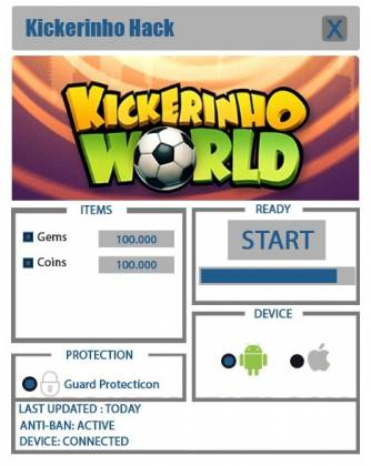 Чит для Kickerinho World
