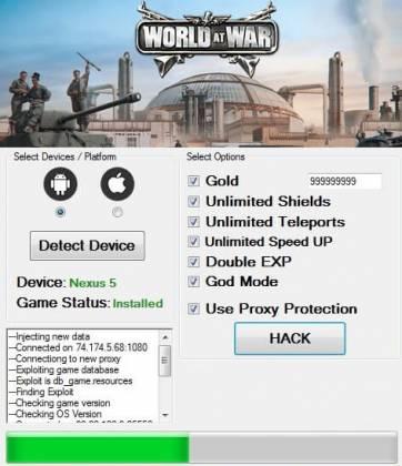ЧИТ для World at War: WW2 Strategy