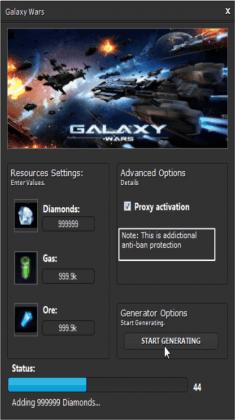 ВЗЛОМАННАЯ Galaxy Wars