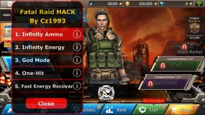 взлом игры Fatal raid
