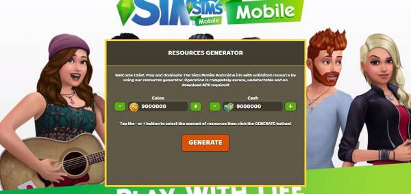 The Sims Mobile Hack And Cheats [For SimCash] - Real Gamers